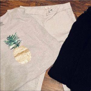 🍍 Sequined Pineapple Tee Like New